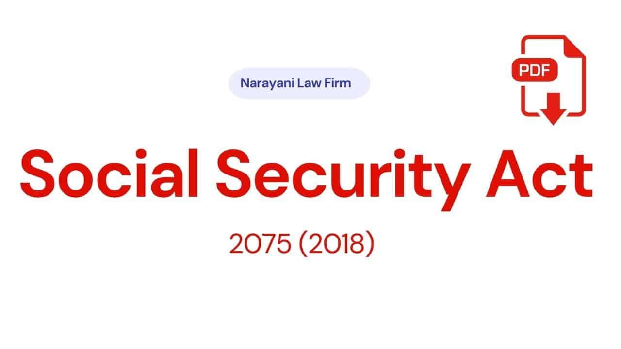 Social Security Act 2075 (2018)